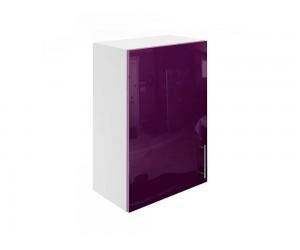 Горен шкаф за кухни с една врата МДФ Елит М16 Патладжан гланц 50 см.