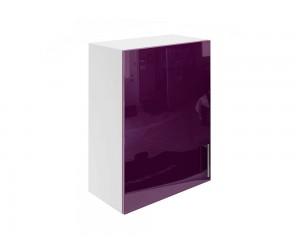 Горен шкаф за кухни с една врата МДФ Елит М16 Патладжан гланц 55 см.