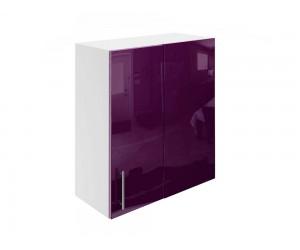 Горен ъглов шкаф за кухни МДФ Елит М27 Патладжан гланц 65 см.