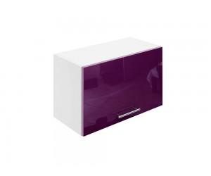 Горен шкаф за кухни с клапваща врата МДФ Елит М26 Патладжан гланц 60 см.