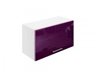Горен шкаф за кухни с клапваща врата МДФ Елит М26 Патладжан гланц 65 см.