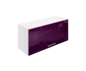 Горен шкаф за кухни с клапваща врата МДФ Елит М26 Патладжан гланц 80 см.