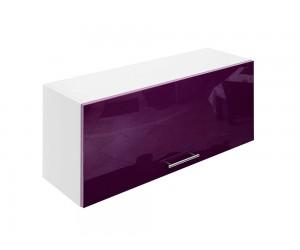Горен шкаф за кухни с клапваща врата МДФ Елит М26 Патладжан гланц 90 см.