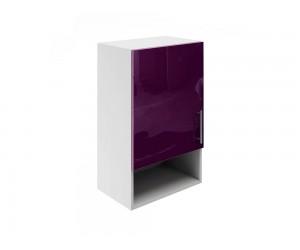 Горен шкаф за кухни с една врата и ниша МДФ Елит М18 Патладжан гланц 45 см.
