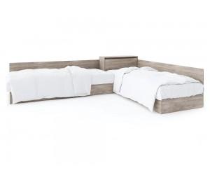Ъглови легла с ракла ЕКО - Дъб суров - 82/190 см.