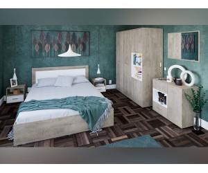 Спален комплект Гретел - дъб суров/бяло