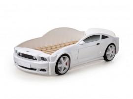 Легло - кола модел MG LIGHT 3D в бяло