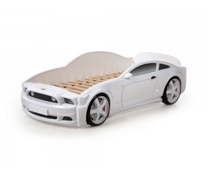 Легло - кола модел МУСТАНГ LIGHT 3D в бяло