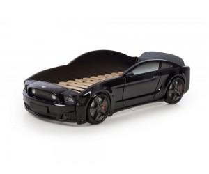 Легло - кола модел МУСТАНГ LIGHT 3D в черно
