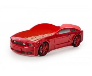 Легло - кола модел МУСТАНГ LIGHT 3D в червено