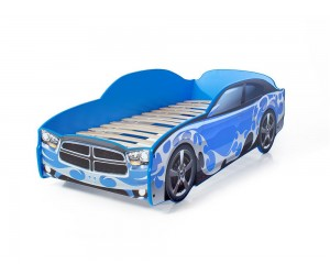 Легло - кола модел LIGHT Додж в синьо