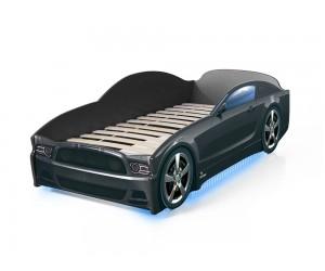 Легло - кола модел LIGHT МУСТАНГ - черна - с дънно осветление