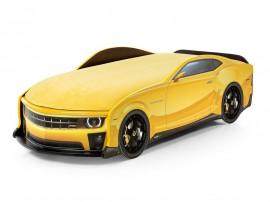 Легло - кола модел UNO КАМАРО - жълта - с матрак Стандарт