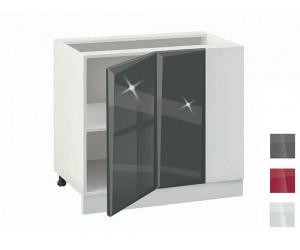 Долен кухненски шкаф за ъгъл MDF Гланц 1001 - 100 см.