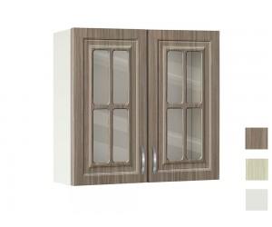 Горен кухненски шкаф с витрини MDF Винтидж 80 В - 40 см.