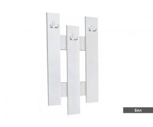 """Закачалка за стена """"3"""" - бяло"""