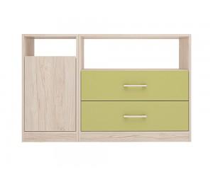 Шкаф за детска стая Анди - 120 см. - Рокфорд лайт/Зелено океан