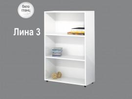 Етажерка Лина 3 - Бяло гланц