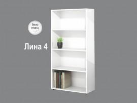 Етажерка Лина 4 - Бяло гланц