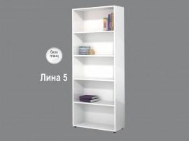Етажерка Лина 5 - Бяло гланц