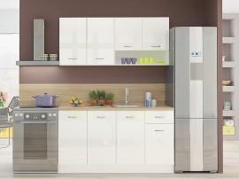Готова кухня Алис 8 - Бяло гланц