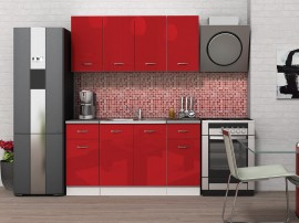 Готова кухня Алис 9 - Червено гланц