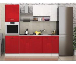 Кухня комплект Алис 19 - Червено / бяло гланц