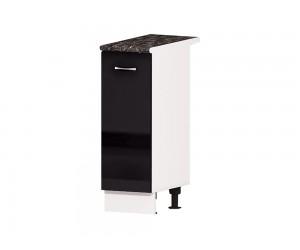 Кухненски долен шкаф Алис B22 30 см. с врата - черен гланц