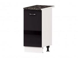 Кухненски долен шкаф Алис B5 40 см. с врата - черен гланц