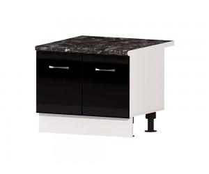 """Кухненски шкаф за """"Раховец"""" Алис B50 60 см. - черен гланц"""