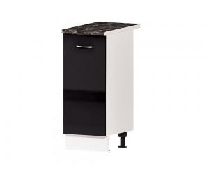 Кухненски долен шкаф Алис B61 35 см. с врата - черен гланц