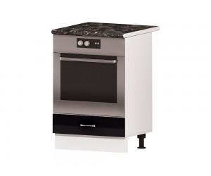 Кухненски шкаф за фурна Алис B7 60 см. - черен гланц