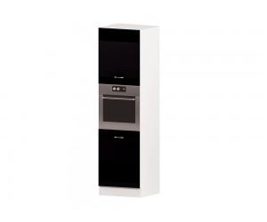 Колонен кухненски шкаф Алис B66 60 см. - черен гланц