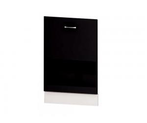 Врата за вградена съдомиялна Алис B65 60 см. - черен гланц