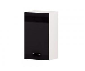 Кухненски горен шкаф Алис G21 40 см. с една врата - черен гланц