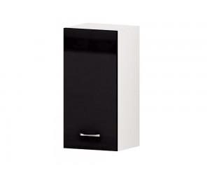 Кухненски горен шкаф Алис G60 35 см. с една врата - черен гланц