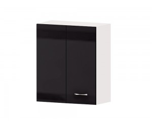 Кухненски горен ъглов шкаф Алис G31 60 см. с врата - черен гланц