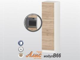 Колонен кухненски шкаф Алис B66 60 см. - дъб сонома