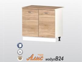 Кухненски долен шкаф Алис B24 100 см. с врати - дъб сонома