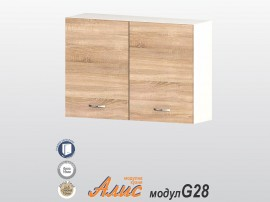 Кухненски горен шкаф Алис G28 100 см. с две врати - дъб сонома