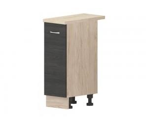 Кухненски долен шкаф Дорина B22 с врата 30 см. - рокфорд лайт/дъб карбон