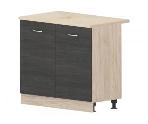 Кухненски долен шкаф Дорина B24 с врати 100 см. - рокфорд лайт/дъб карбон