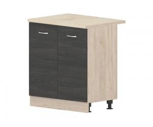 Кухненски долен шкаф Дорина B3 за мивка 80 см. - рокфорд лайт/дъб карбон