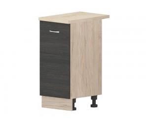 Кухненски долен шкаф Дорина B5 с врата 40 см. - рокфорд лайт/дъб карбон