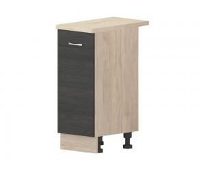Кухненски долен шкаф Дорина B61 с врата 35 см. - рокфорд лайт/дъб карбон