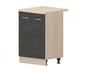 Кухненски долен шкаф Дорина B68 за мивка 60 см. - рокфорд лайт/дъб карбон
