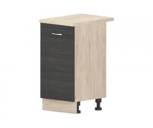 Кухненски долен шкаф Дорина B72 с врата 45 см. - рокфорд лайт/дъб карбон