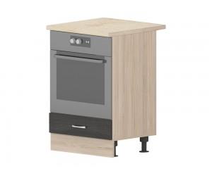 Кухненски долен шкаф Дорина B7 за фурна 90 см. - рокфорд лайт/дъб карбон