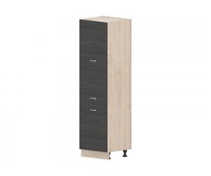 Кухненски колонен шкаф Дорина B66 за фурна 60 см. - рокфорд лайт/дъб карбон