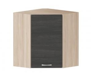 Кухненски горен ъглов шкаф Дорина G14 с врата 60 см. - рокфорд лайт/дъб карбон